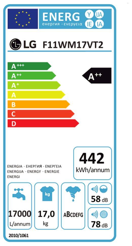 Lg Waschmaschine F 11wm 17vt2 Service Paket Energieeffizienzklasse A