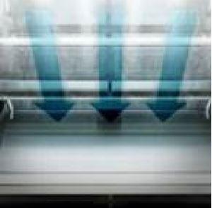FRESHShield™ : Kaltluftbarriere zwischen Tür und den gelagerten Lebensmitteln