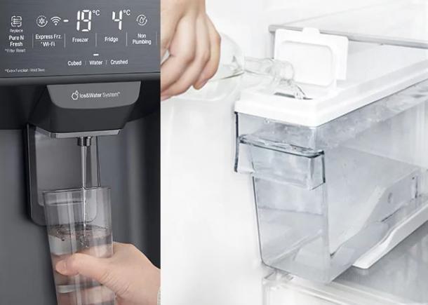 Wasser- und Eisspender ohne Wasseranschluss